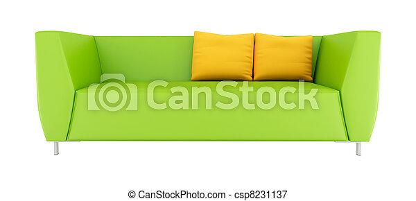green modern sofa - csp8231137