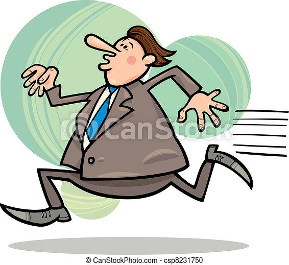 running businessman - csp8231750