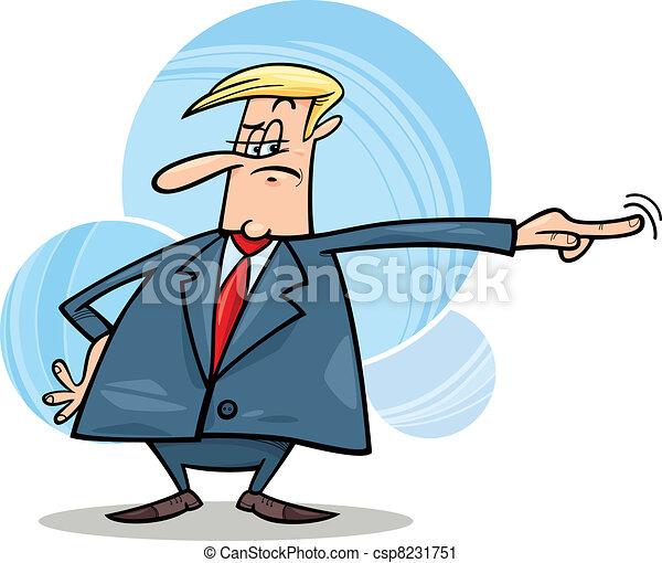 angry boss firing somebody - csp8231751