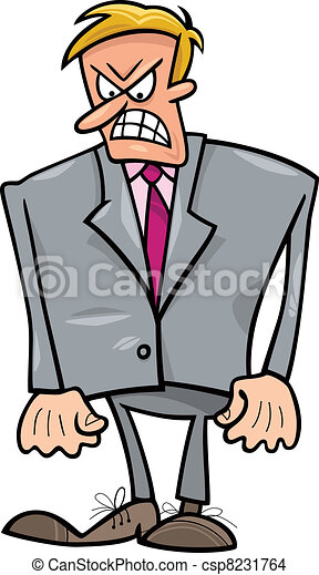 Angry businessman - csp8231764