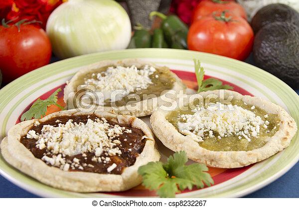 Mexican Sopes Dish Close Up - csp8232267