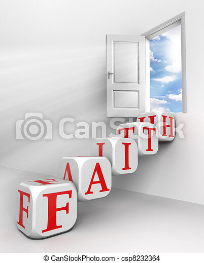 faith conceptual door - csp8232364