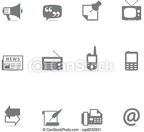 Single Color Icons - Communication - csp8232931