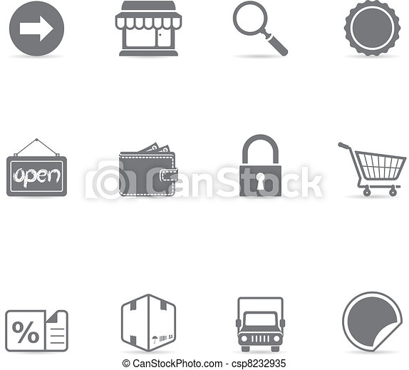 Single Color Icons - Ecommerce - csp8232935