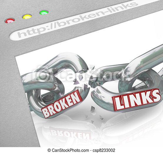 Bad Broken Links Website Screen Chain Connections - csp8233002