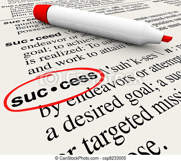Success Word Definition Meaning Circled in Dictionary - csp8233005