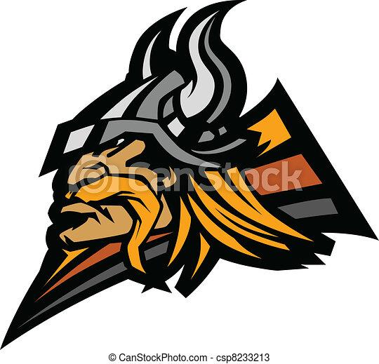 Viking Mascot Vector Graphic with H - csp8233213