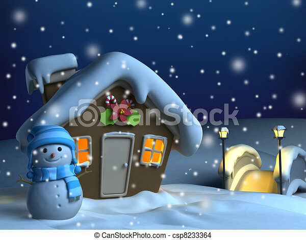Christmas Inside House Drawing Christmas House Background