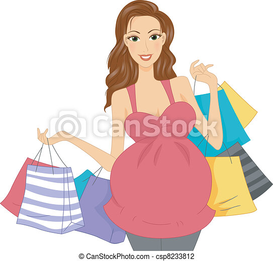 Pregnant Shopper - csp8233812
