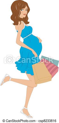 Pregnant Shopper - csp8233816