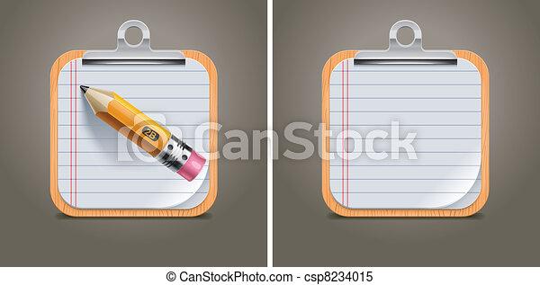 Vector clipboard square icon - csp8234015