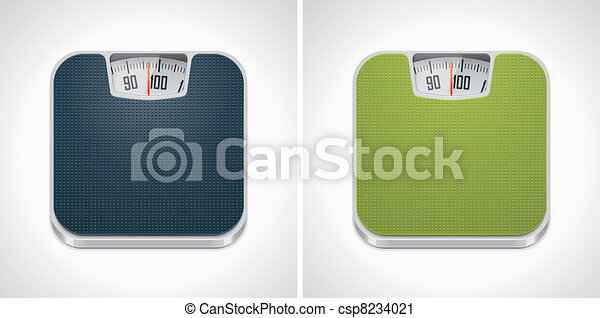 Vector bathroom weight scale icon - csp8234021