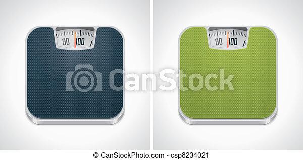 Vector bathroom weight scale icon - csp8234021