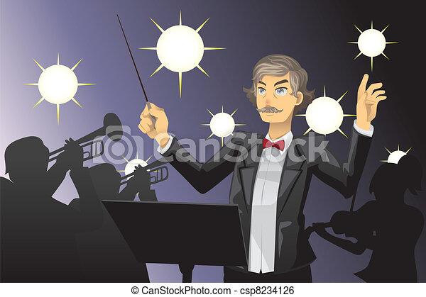 Orchestra conductor - csp8234126