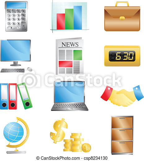Business office icons - csp8234130