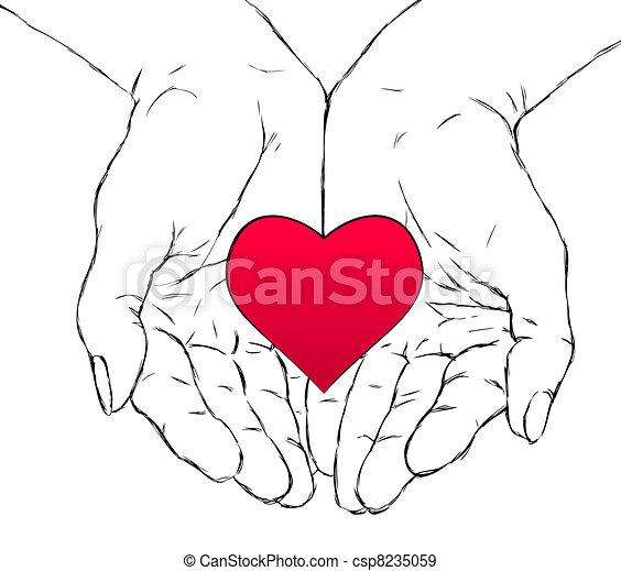 hands and heart - csp8235059