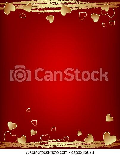 valentine's day background - csp8235073