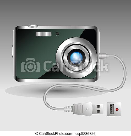 Compact digital foto camera - csp8236726