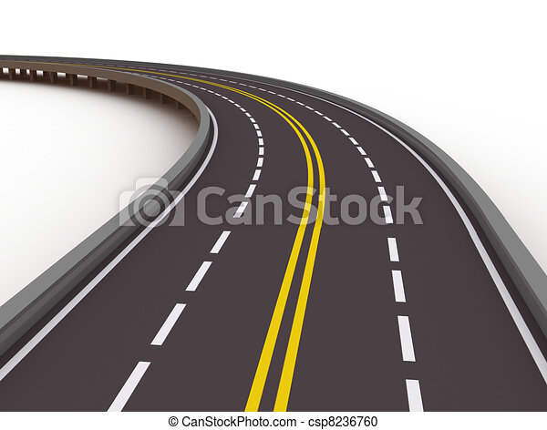 high way 3d illustration - csp8236760