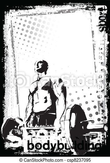 bodybuilding poster - csp8237095
