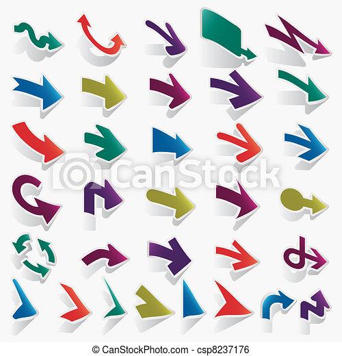 vector arrows set - csp8237176