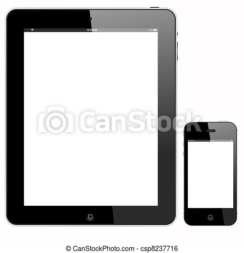 tablet PC and smartphone - csp8237716
