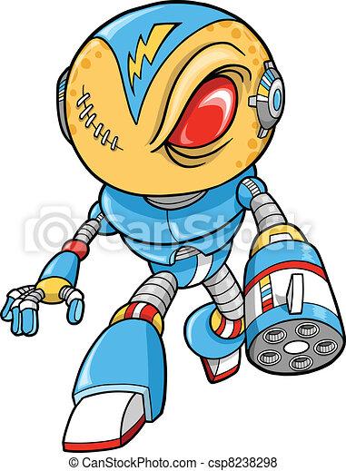 Robotic Warrior Vector Illustration - csp8238298