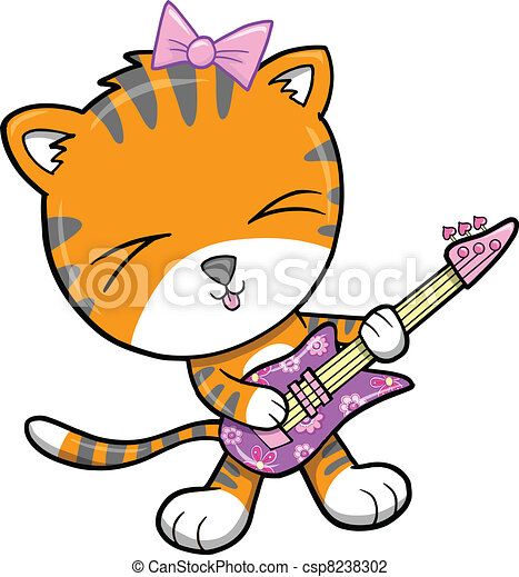 Rock Star Tiger Vector Illustration - csp8238302