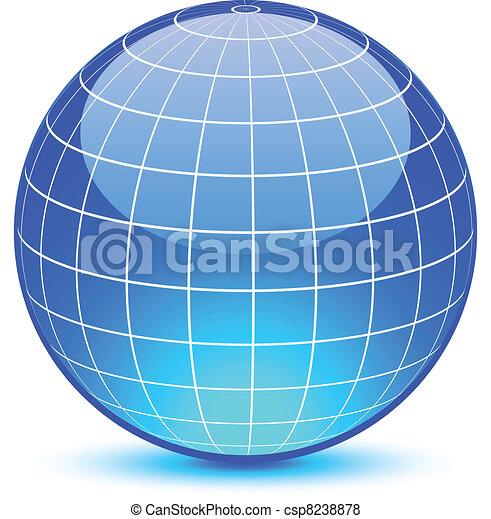 Abstract globe. - csp8238878