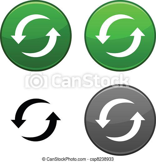Refresh button. - csp8238933