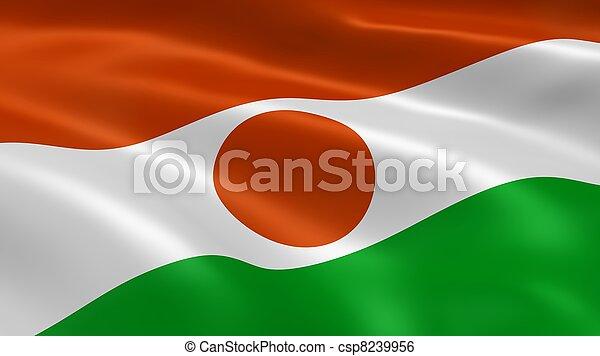 Nigerien flag in the wind - csp8239956