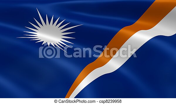 Marshallese flag in the wind - csp8239958