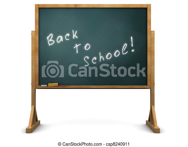 school chalkboard - csp8240911