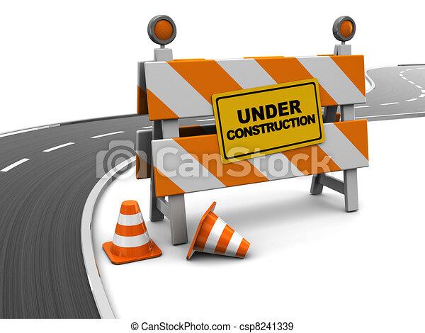 road under construction - csp8241339
