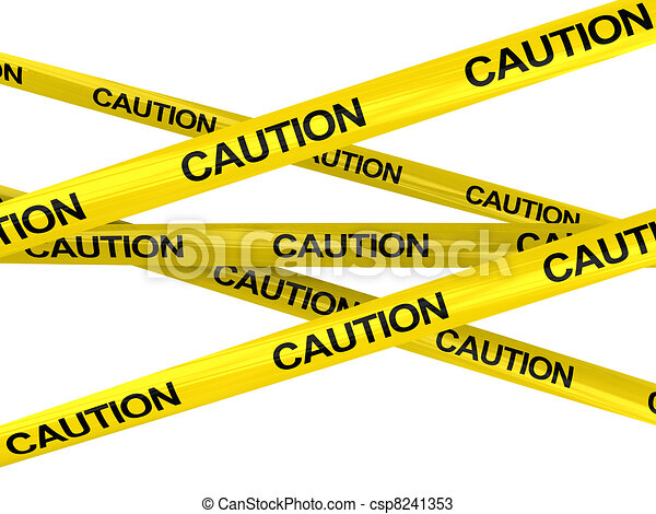 caution ribbons - csp8241353
