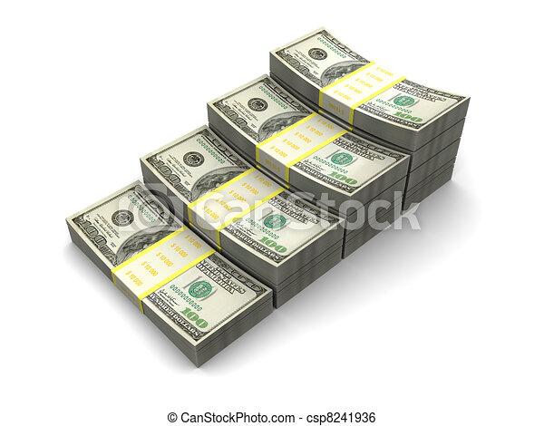 money stairway - csp8241936
