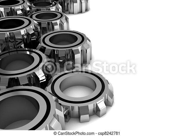 gear wheels background - csp8242781