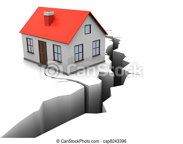 Illustration de s isme 3d illustration de maison for Construction types for insurance