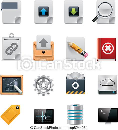 Vector server administration icon  - csp8244064