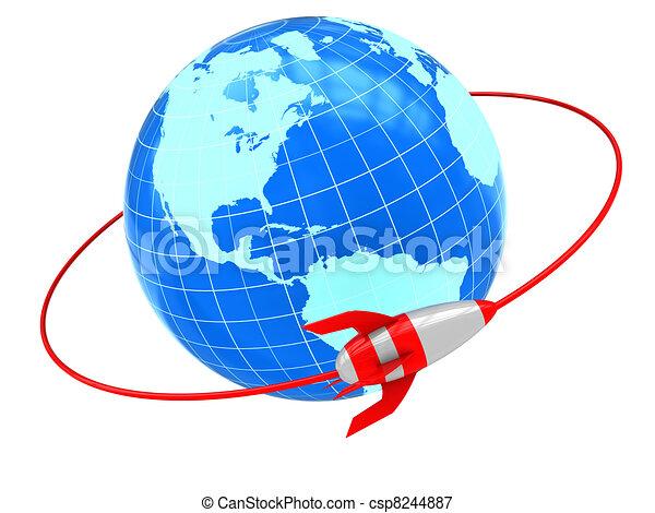 Stock Illustrations of orbit - abstract 3d illustration of ...