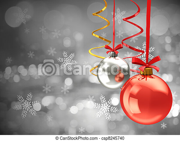 chistmas balls background - csp8245740