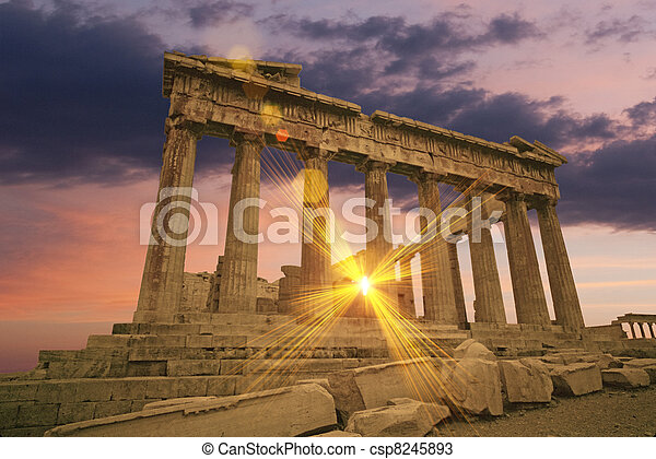 Greek temple - csp8245893