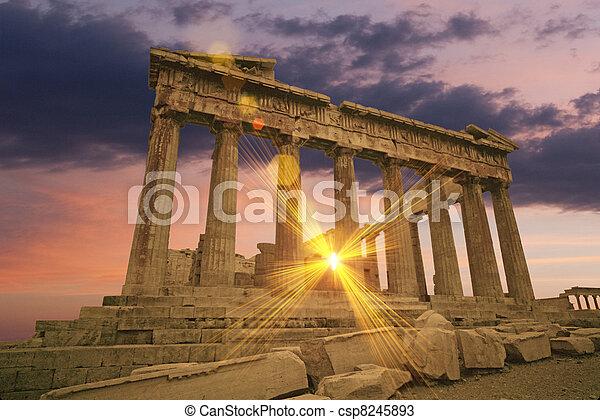 Greek temple - csp8245893
