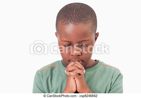 Young boy praying - csp8246842