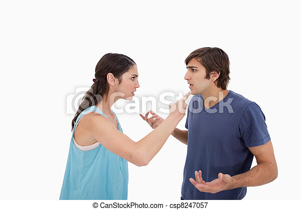 Young couple arguing - csp8247057
