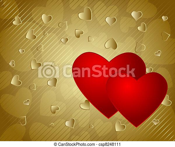 Valentine's day background - csp8248111