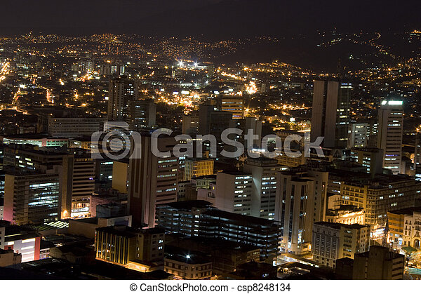 Modern Urban City At Night - csp8248134