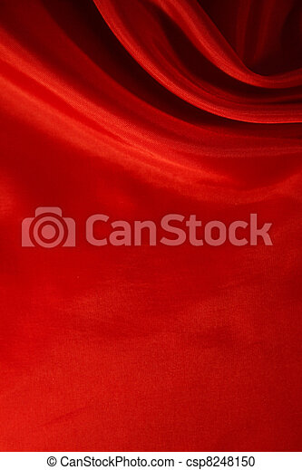 Smooth Red Silk as background - csp8248150