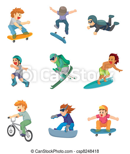 cartoon Extreme sport icon - csp8248418