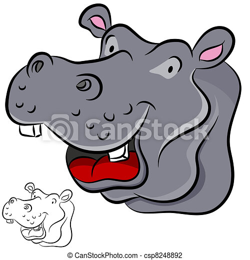 Gallery For > Hippopotamus Face Clipart